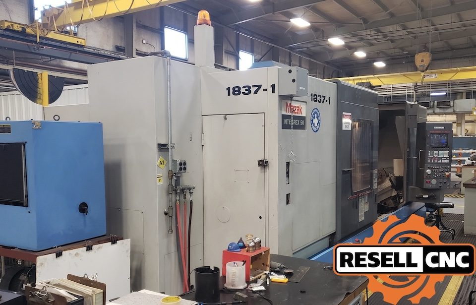 1997 Mazak Integrex 50Y 5-Axis CNC Lathe with Live Tooling