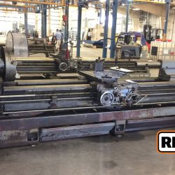 "Mazak Model 24-160, 24"" x 160"" Geared Head Engine Lathe"